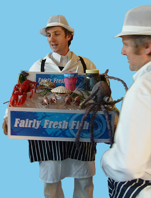 Photo: Fairly Fresh Fish Company walkabout show by Fair Play Comedy